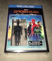 SPIDERMAN FAR FROM HOME(BLU-RAY+DVD+DIGITAL) ACTION FIGURE WALMART EXCLUSIVE