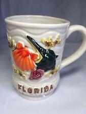 Vintage Florida Shell Starfish Textured Seashore Coffee Tea Cup Mug