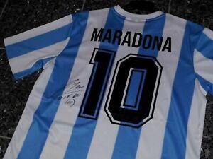 "ARGENTINIEN ""MARADONA"" LE COQ SPORTIF  TRIKOT; HANDSIGNIERT ""CHARITY"""