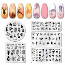 PICTYOU Nail Stamping Plates Nail Art Plate  Stencil Stainless Steel Tool