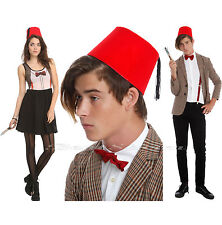 NEW BBC DR WHO DOCTOR UNISEX RED FEZ COSTUME PARTY HAT W/ TASSEL COSPLAY 4 1/2""