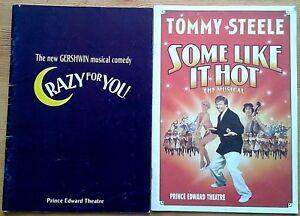 Individual/Single Prince Edward Theatre programmes 1990s, West End programme