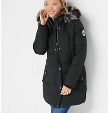 Arctic Expedition Quilted Down Coat with Removable Hood