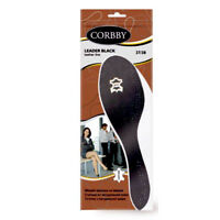 NEW BLACK LEATHER INSOLES SHOE INSERTS FOR LADIES AND MENS ALL SIZE UK SELLER