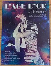 Affiche de cinéma : L'ÂGE D'OR de LUIS BUNUEL - SALVADOR DALI