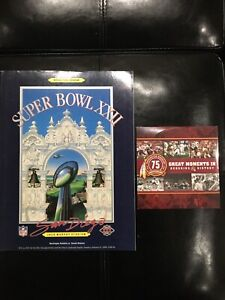 Washington Redskins 2 Pc Lot - 1988 Super Bowl XXII Program & 75 Anniversary DVD