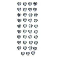 American Crafts Dcwv Heart Gem Foam Stickers - Self-Adhesive Medium Size - Clear
