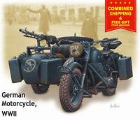 Master Box 3528 - 1/35 - WWII German motorcycle