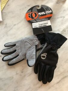 NOS Women's Pearl Izumi Full Finger Cyclone Gloves  Size Small Black