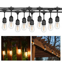 15M/49FT Outdoor Waterproof Commercial Grade Patio Globe String Lights LED Bulbs