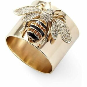 Fashion Women 925 Silver White Sapphire Bee Jewelry Wedding Band Ring Size 6-10