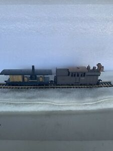 Roundhouse HO Scale Old Timer Series Climax Kit & Flat Car Boiler Car Nice LQQK