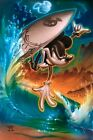 Noah-Off The Lip-Limited Edition Hand Embellished Giclee/Canvas/Hand Signed/COA