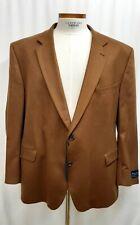 NWT Jack Victor Blazer 100% Cashmere 54R Brown Tan Sport Coat Jacket Dual Vents