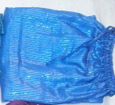 BLUE COTTON HAREM PANTS FOR BELLY DANCE, GYPSY BOHO BEACH YOGA, ELASTIC WAIST