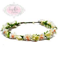 Vintage Floral Flower Hair Garlands. Festival Bridal Wedding Prom Headbands