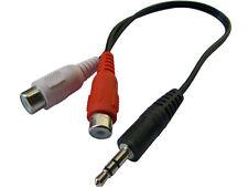 Cavo Audio Stereo 10CM. Jack 3.5mm Maschio - 2 RCA Femmina