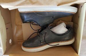 Diesel D-Blaast Men Leather Fashion Sneaker Shoes, Blue, 8.5M Y01085