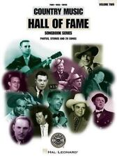The Country Music Hall of Fame Vol 2 by Hal Leonard Corp Staff 1998 Paperback