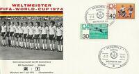 Sonderkarte 7.7.1974 Fifa-World-Cup 1974 Weltmeister Deutschland-Holland 2:1