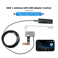 Protable Car DAB+ Antenna with USB Adapter Receiver Cable for Android Stereo