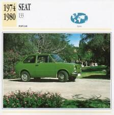 1974-1980 SEAT 133 Classic Car Photograph / Information Maxi Card