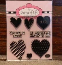 Stephanie Barnard The Stamps of Life Hearts Love Hugs NEW