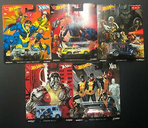 HOTWHEELS Pop Culture Nostalgia 2019 - Marvel X-MEN -  Set of 5 Cars - 1:64