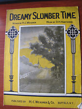 Dreamy Slumber Time - vintage 1920 sheet music - Vocal Piano