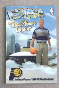 INDIANA PACERS NBA BASKETBALL MEDIA GUIDE - 1997 1998 - NEAR MINT