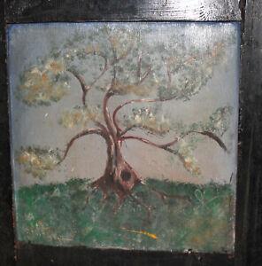 IMPRESSIONIST LANDSCAPE TREE OIL PAINTING SIGNED