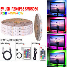 5m LED RGB Ruban Bande Guirlande USB SMD 5050 TV Light Strip Flexible Décor FR