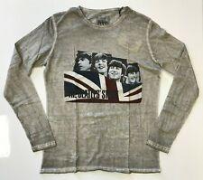 La historia de los Beatles hombre the Beatles Manga Larga T-Shirt Plata/Gris