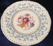 WOODS BURSLEM ENGLAND WAVERLEY SAUCER(S) BLUE LEAVES & BRANCHES FLORAL CENTER