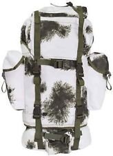 BW Combat Backpack 65 litre Winter camouflage Bundeswehr pack snow camo