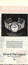 PUBLICITE ADVERTISING  1991   GIRARD-PERREGAUX montre chrono automatique GP 7000