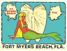 Fort Myers Beach- FL  Florida Vintage-Looking Travel Decal/Luggage Label/Sticker