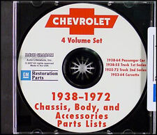 Impala SS Bel Air Biscayne Parts Book CD 1964 1963 1962 1961 1960 1959 1958 Chev