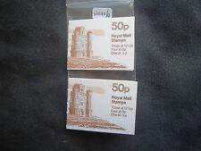 Gb folded booklets 50p paxtons tower Lb + Rb Fb19a + 19b (good perfs) Mnh