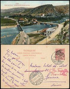 LEBANON - BEYROUT 1912, FRENCH LEVANT PC SHOWING RAILWAY & BRIDGE TO GENEVA #K75
