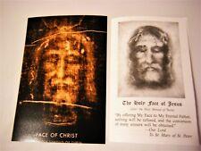 Catholic Holy Face of Jesus 4x6 Photo Print + Prayer Leaflet  - Shroud of Turin