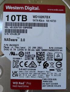 WD Red Pro 10TB NAS Hard Drive 7200 RPM SATA 6Gb/s  WD102KFBX