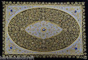 2'x3' Brodé Main Jeweled Perse Floral Tenture Murale Décor Tapisserie H105