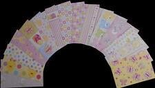 """Scrapbooking  Papers x 15  ****BABY GIRL****  15cm x 10cm  (6"""" x 4"""")"""