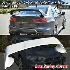 MR Style Rear Trunk Spoiler Wing (ABS) Fits 08-16 Mitsubishi Lancer EVO 10 X