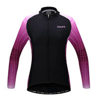 Purple Women Bike Wind Coat Bicycle Waterproof Long Sleeve Cycling Jacket M-XL