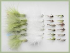 Winter Trout Fishing Flies, 24 Pack, Blue Flash, Cats, Tungsten & GH Nymph, #10