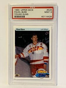 PAVEL BURE 1990 Upper Deck Young Guns Rookie (R) #526 PSA 9 Mint HOF