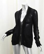 McQ by ALEXANDER McQUEEN Womens Black Knit Long-Sleeve Zip Cardigan Sweater S