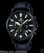 EFV-510BL-1A Black Men's Watches Casio Edifice Chronograph 100m World time New